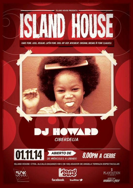 Flyer Dj Howard en Island House